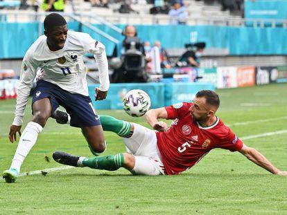 Dembélé durante el partido contra Hungría.