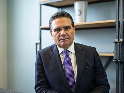 Silvano Aureoles, gobernador de Michoacan por el PRD, durante una entrevista en un hotel de Ciudad de México.