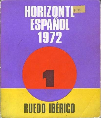 'Horizonte español 1972', suplemento de 'Cuadernos de Ruedo ibérico'. Portada de José Martínez.