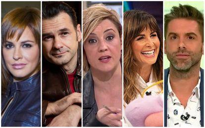 Desde la izquierda, Mamen Mendizábal, Iñaki López, Cristina Pardo, Nuria Roca y José Yélamo.