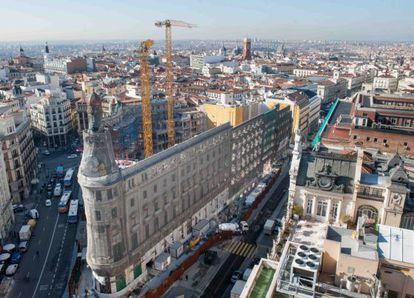 Las obras del complejo Canalejas, el pasado mes de febrero.
