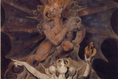 Pintura 'El número de la Bestia es 666', de William Blake.