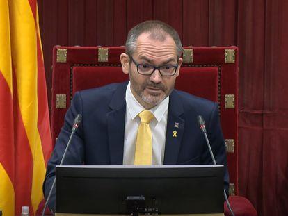 El exvicepresidente del Parlament de Cataluña Josep Costa, en una imagen de archivo.