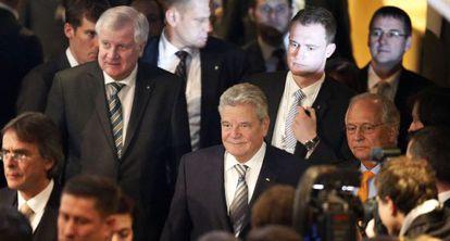 El presidente alemán Joachim Gauck llega este viernes a la Conferencia de Seguridad de Múnich.