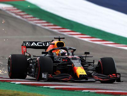 Verstappen, durante la clasificación del Gran Premio de Estados Unidos en Austin