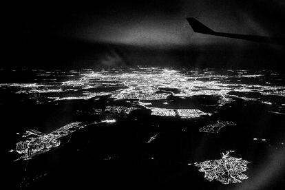 Madrid visto desde un avión, una de las imágenes que incluye '2016'.