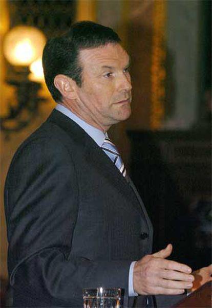 Juan José Ibarretxe, durante su intervención en el Congreso de los Diputados.