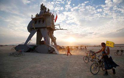 El desierto de Black Rock (Nevada). Un aspecto de la fiesta Burning Man de 2014.