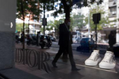 La tienda de Dior en Madrid, fotografiada este martes