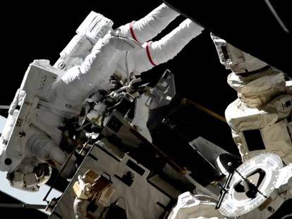 El astronauta de la NASA Nick Hague durante su paseo espacial del pasado 29 de marzo.