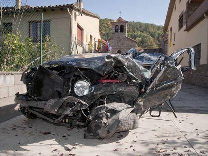 Accidente en Molló el pasado octubre, donde murieron cuatro personas.