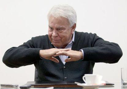 Felipe González en marzo de 2015