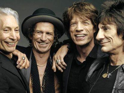 Charlie Watts, Keith Richards, Mick Jagger y Ron Wood.