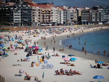 Playa de Silgar, en Sanxenxo, uno de los centros turísticos de las Rías Baixas. Óscar Corral