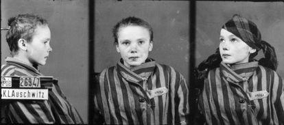 Una prisionera de Auschwitz, fotografiada por Wilhelm Brasse.