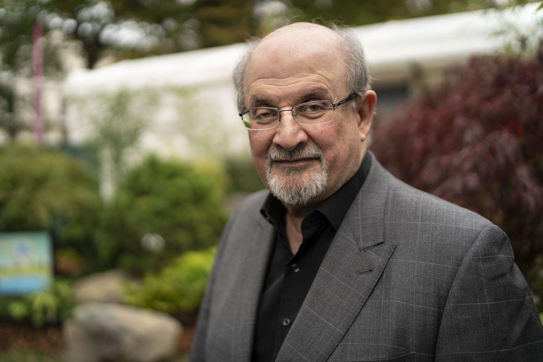 Salman Rushdie en el festival literario de Cheltenham.