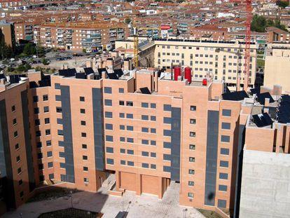 Viviendas de la EMVS en el Ensanche de Vallecas de Madrid.