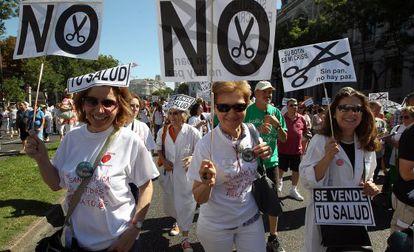 Una de las manifestaciones de la marea blanca, en 2013.