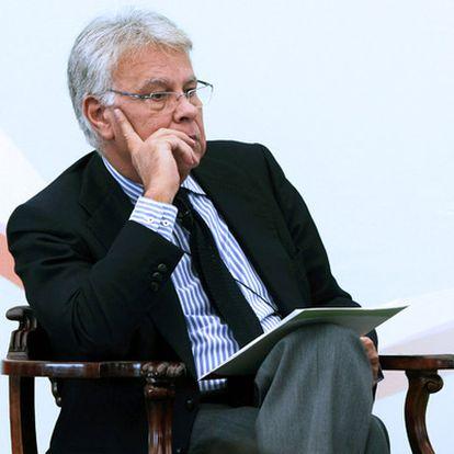 Felipe González, fotografiado en un foro sobre la crisis celebrado en la ciudad de México en enero de 2009.