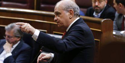 Jorge Fernández Díaz, el pasado 6 de abril, en el Congreso.