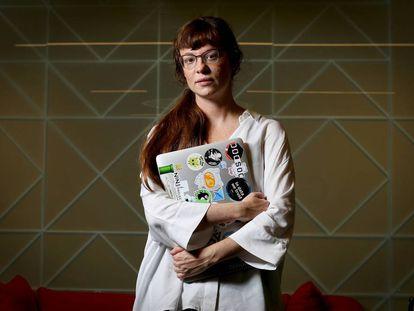 Gema Parreño Piqueras, diseñadora de Deep Asteroid, en la sede madrileña de Google.
