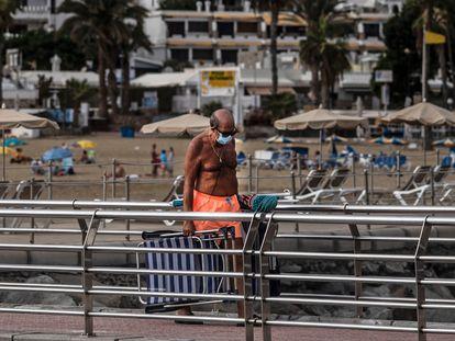 Playa de Puerto Rico, en Las Palmas de Gran Canaria el pasado 27 de octubre.