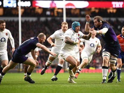Imagen del Inglaterra-Escocia de Rugby.