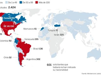 Solicitudes de concesión de la nacionalidad por sefardíes originarios de España