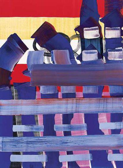 'Learning love' (2005), de Juan Uslé.