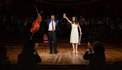 Yo Yo Ma y Andrea Motis, aplaudidos en el Palau de la Música.