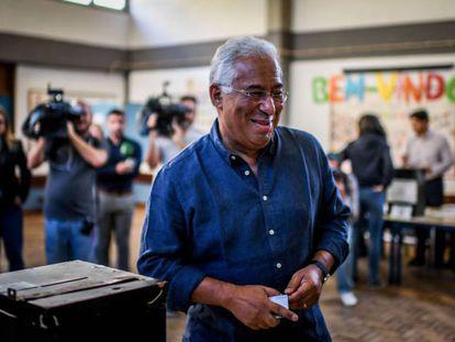 António Costa, tras votar este domingo en Lisboa. En vídeo, el presidente de Portugal llama a la participación.