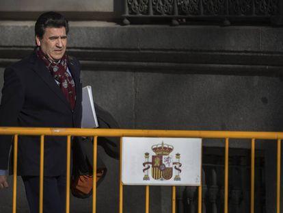 David Marjaliza, uno de los empresarios imputados en en el 'caso Púnica', a su llegada a la Audiencia Nacional, en una imagen de archivo.