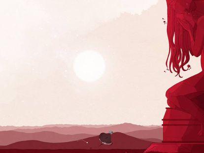 Una imagen de 'Gris', el gran triunfador de los Goya del videojuego 2019.