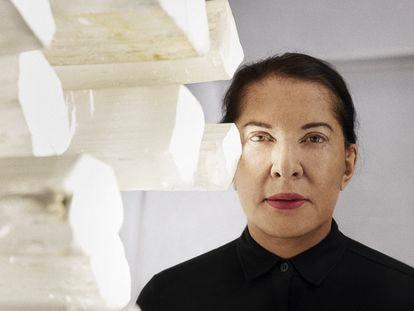 Marina Abramovic fotografiada en los talleres de Factum Arte, Madrid. Julio 2021.