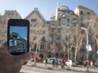Una aplicación para visitar los lugares turísticos de Barcelona.
