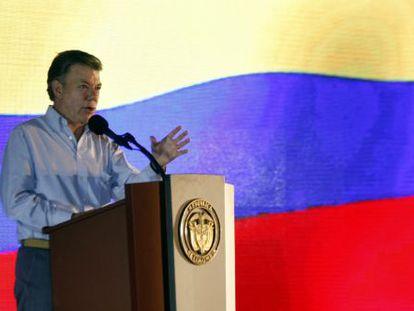 El presidente Juan Manuel Santos, este martes.