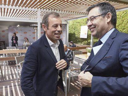 Sandro Rosell y Josep Maria Bartomeu, en una imagen de archivo.