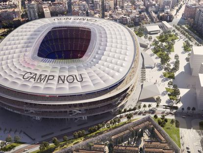 Imagen virtual del futuro Camp Nou