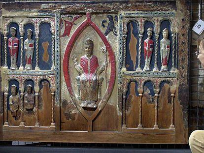 El frontal de Sant Hilari de Buira, una de las 111 obras reclamadas por el obispado de Barbastro-Monzón y que se encuentra en Lleida.