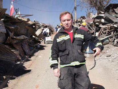 Miguel Aguilar Alveal, bombero voluntario chileno