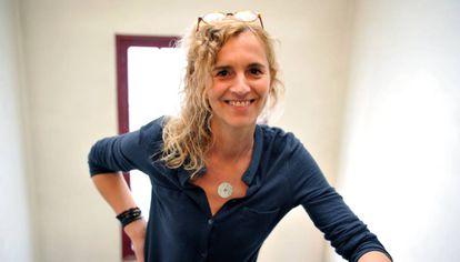 La escritora francesa Delphine de Vigan en París la semana pasada.