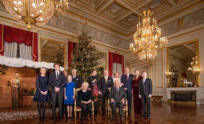 La familia real belga, en el concierto navideño celebrado el 18 de diciembre en el palacio real de Bruselas.