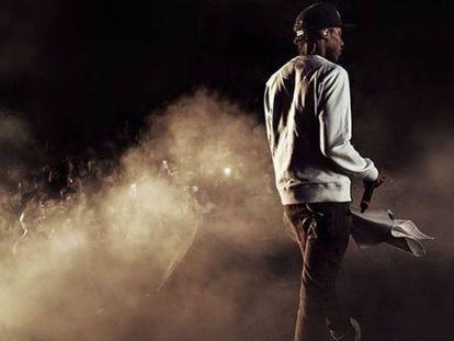 El rapero Smoke, durante una actuación, en una imagen de Instagram.