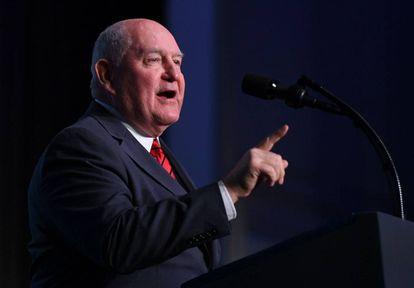 Sonny Perdue, secretario de Agricultura de EE UU.