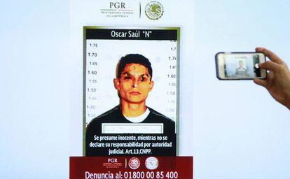 """Óscar Saúl """"N"""", presunto homicida de María Villar."""