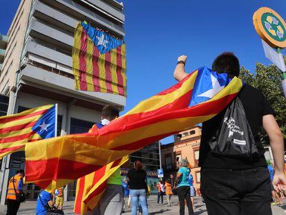 Concentración independentista durante la última Diada del 11 de septiembre.