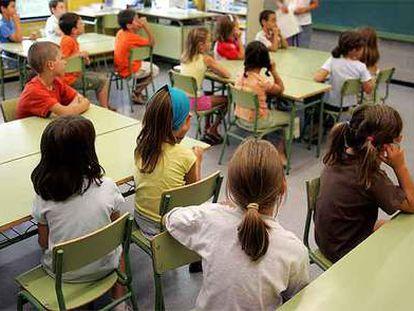 Una clase de primaria en una escuela pública de Barcelona.