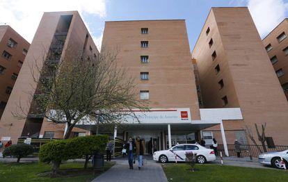 Hospital público Príncipe de Asturias, en Alcalá de Henares, este viernes.