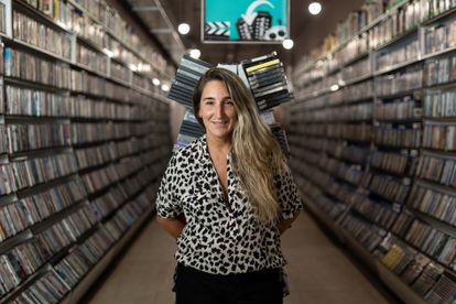 Aurora Depares, propietaria del videoclub Video Instan en Barcelona