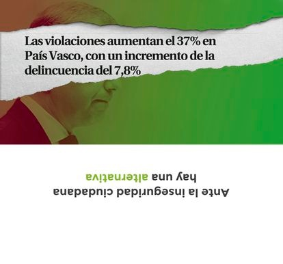 Modelos de sobres de VOX País Vasco emitidos para las próximas elecciones del 12 de julio de 2020.  VOX 30/06/2020